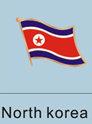 North Korea Flag Pin