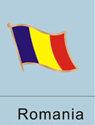 Romania Flag Pin