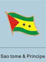 Sao Tome and Pricipe Flag Pin