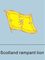 Scotland Rampant Lion Flag Pin