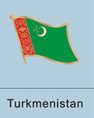 turkmen flag, turkmen flag pin, patriotism, patriotic, lapel pin, flag pin,...