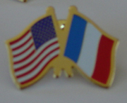 US and France Flags Lapel Pin