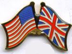 US and Britain Flags Lapel Pin