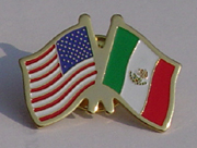 US and Mexico Flags Lapel Pin