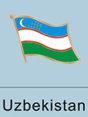 Uzbekistani flag, Uzbekistani flag pin, patriotism, patriotic, lapel pin,...