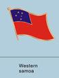 western samoan flag, samoan flag pin, patriotism, patriotic, lapel pin, flag...