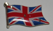 3 Light Blinking Britain Flag Magnetic Lapel Pin / Button