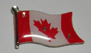 3 Light Blinking Canadian Flag Magnetic Lapel Pin / Button
