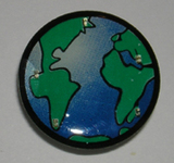 5 Light Blinking Globe Magnetic Lapel Pin / Button