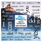 Mountain 49 Motivation Words Message Magnet