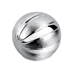 Silver Plated Basketball Bank
