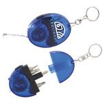 Oval Took Kit / Keychain LED Light / Tape Measure