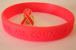 awareness, breast cancer, wrist band, wristband, awareness bracelets,, promotional, logo, advertisin