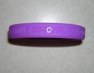 Purple Silicone Awareness Bracelet / Wristband