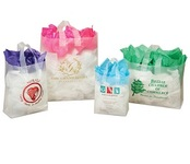 Clear Frosted Shopping Bags