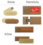 Eco-Friendly USB Drives - Bamboo / Wood / Cardboard