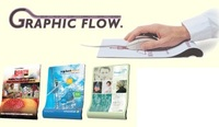 Graphic Flow® Fabric Combo Mouse Pads with Wrist Rest