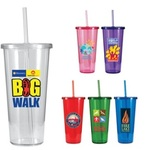 24 oz. Single-Wall Tumbler with Full Color Digital Imprint