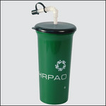 Recycled color 32 oz. cup with lid and straw, reusable and recyclable...