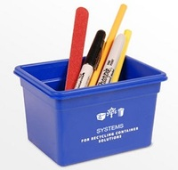 recycling bin, recycling box, blue box, recycling, recycled materials