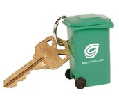 Roll-out Garbage or Recycling Cart Key Tag