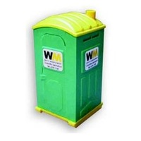 recycling, garbage, recycling program, portapotty, miniature, miniatures, promotional, logo, adverti