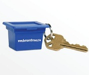 Recycling Blue Box Key Tag