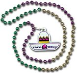 Mardi Gras Beads with Sombrero Medalion
