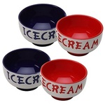Ice Cream Bowl Set (4 12oz Bowls with silicone bases)