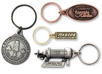 Econo Metal Keychain in Custom Shape
