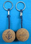 Cork Sphere / Bobber Float Keyring