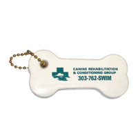 dog bone shaped floating key chain, keychain, boat, marina, kennel, vet,...