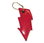 Lightning Bolt Shaped Floating Keychain