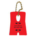 Floating Life Vest / PFD Shaped Keychain