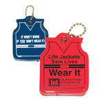 Floating Life Vest Shaped Keychain