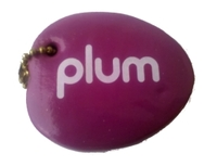 plum floating keychain, fruit foam key chain, vinyl coated floating keychain,...