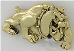 Bulldog Shaped Lapel Pin