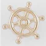 Ships Wheel Shaped Lapel Pin