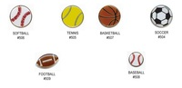 Sports Balls Shaped Lapel Pin