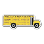 School Bus Shaped Magnet