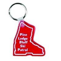 ski, skiing, ski boot, ski boot key chain, ski key chain, keytag, recycled...