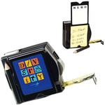 Black Tape Measure with Memo Pad