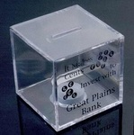 Clear Cube Coin Bank