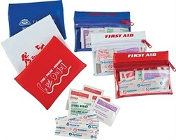 travel first aid kits, firstaid kits, traveling, bandages, band aids, bandaids, antiseptics, pads, s