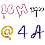 Number / Letter / Symbol Shaped Pens and Pencils