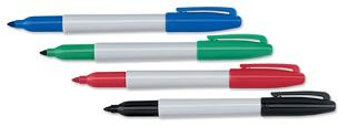 Sharpie permanent marker, markers, dry erase markers, promotional, logo, advertising, personalized,