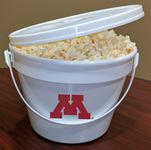 Popcorn Pail / Bucket w/ Handle, Lid - 128 oz