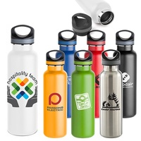 20oz Double Wall Vacuum Insulated Bottle, HydroFlask style, copper lined bottle