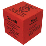 Foam Cube w/ optional Pencil Holder / Bank Slots - Snafooz® type puzzle