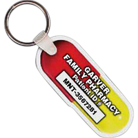 Pill Capsule Key Tag